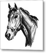 Ghazibella Thoroughbred Racehorse Filly Metal Print