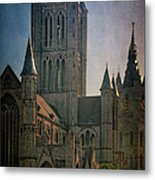 Ghent Skyline Metal Print