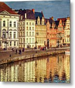 Ghent Waterfront Metal Print