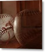Ghost Baseball Metal Print by Emily Newby