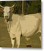Ghost Cow 2 Metal Print