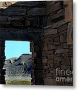 Ghost House In The Desert Metal Print