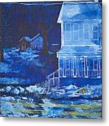 Ghost House Metal Print