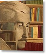 Ghost In The Library  William Faulkner Metal Print by Patrick Kelly