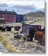 Ghost Mining Town Of Montana Metal Print