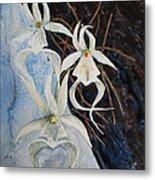 Ghost Orchid Blooming Metal Print