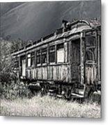 Ghost Passenger Train Coach Metal Print