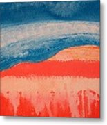 Ghost Ranch Original Painting Metal Print