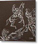 Ghost Riders In The Sky Metal Print