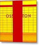 Ghost Station In Red And Yellow Metal Print