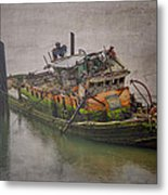 Ghost Steamer Metal Print