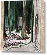 Ghost Stories Forest Graveyard By Jrr Metal Print