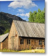 Ghost Town Barn And Stable Metal Print