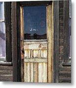 Ghost Town Handcrafted Door Metal Print