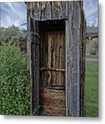Ghost Town Outhouse - Montana Metal Print