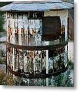 Ghost Town Water Tank Metal Print
