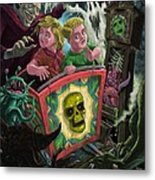 Ghost Train Fun Fair Kids Metal Print by Martin Davey