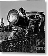 Ghost Train In Paranapiacaba - Locobreque Metal Print