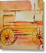 Ghost Wagon Metal Print