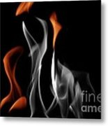 Ghostly Flames Metal Print