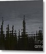 Ghostly Green Canoe Metal Print