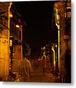 Ghostly Street Metal Print