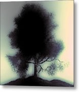 Ghostly Tree Metal Print