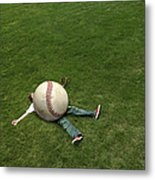 Giant Baseball Metal Print by Diane Diederich