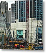 Downtown Chicago High Rise Construction Site Metal Print