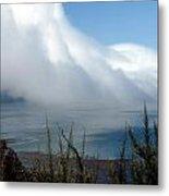 Giant Fog Bank Over Pacific Ocean In California Metal Print