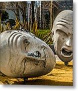 Giant Heads Metal Print