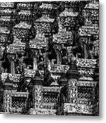 Giant Statues In Wat Arun Metal Print