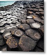 Giant's Causeway Hexagons Metal Print