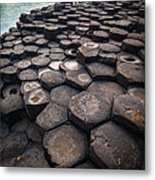 Giant's Causeway Pillars Metal Print