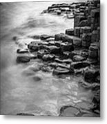 Giant's Causeway Waves  Metal Print