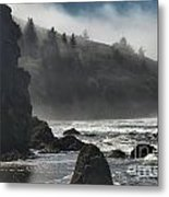 Giants In The Fog Metal Print by Adam Jewell