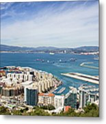 Gibraltar City And Bay Metal Print