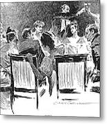Gibson: Dinner Party, 1894 Metal Print