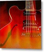 Gibson Es-335 On Fire Metal Print