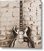 Gibson In Sepia Metal Print