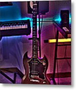 Gibson In Studio Metal Print