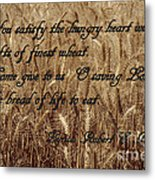 Gift Of Finest Wheat Metal Print