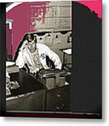 Gil Grant Technical Director Kvoa Tv 1969 Vignetted Color Added Collage 2013 Bob Curzon Photo Metal Print