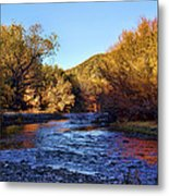 Gila River Gold Metal Print