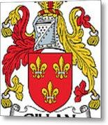 Gillan Coat Of Arms Irish Metal Print