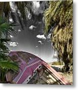 Gilligans Island Black And White 1 Metal Print