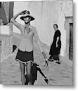 Ginette Camo In Patmos Metal Print