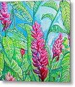 Ginger Jungle Metal Print