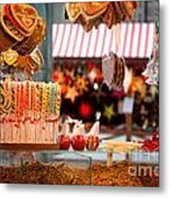 Gingerbread And Candies Metal Print