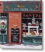 Gingerbread Bakery At Fox Creek Metal Print